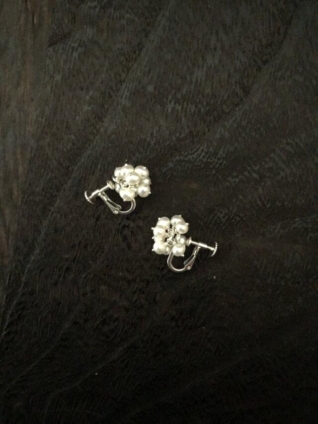 再販・淡水真珠のベビーイヤリングの画像1枚目