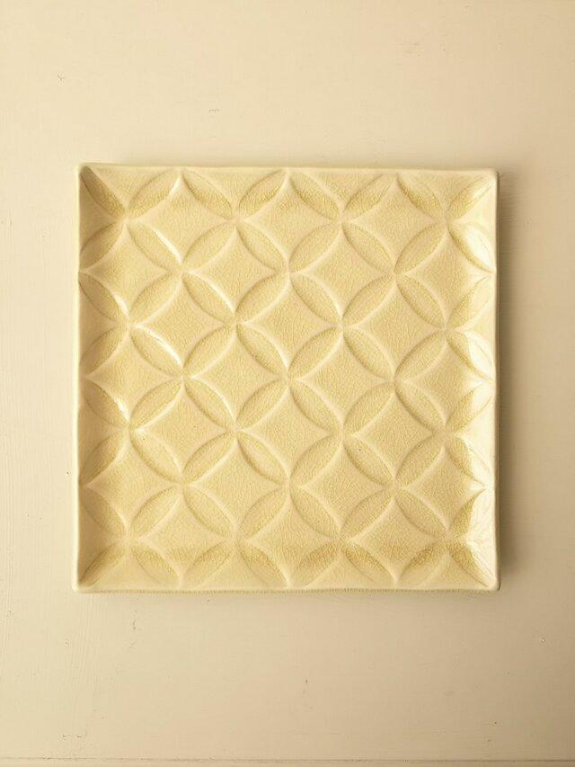 綾series/角皿Lsize (honey)の画像1枚目