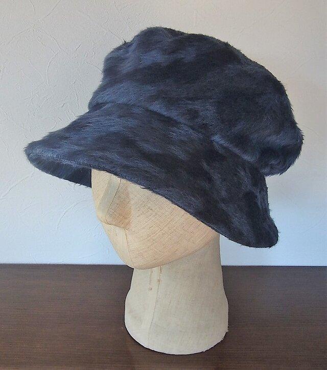 フワッと大きい帽子(ブリーの牛柄?)の画像1枚目