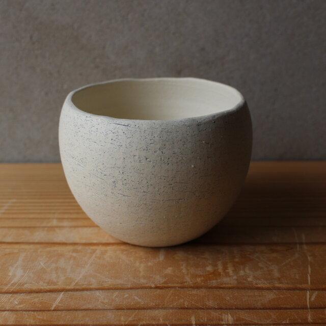 植木鉢 揺ら (地シリーズ) 白 陶土の画像1枚目