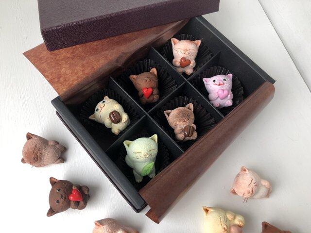 選べるチョコレートみたいな猫さん6匹セットの画像1枚目