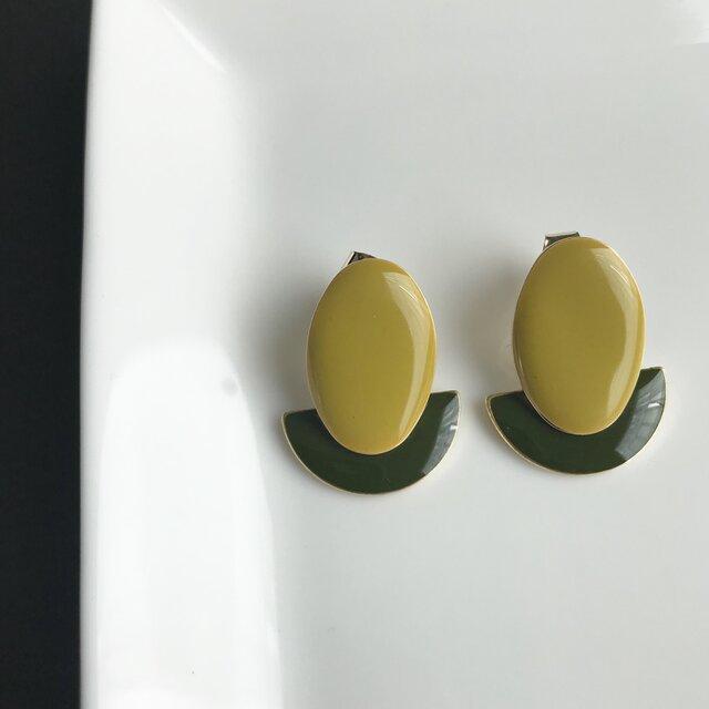 DAEN  mustard×moss greenの画像1枚目