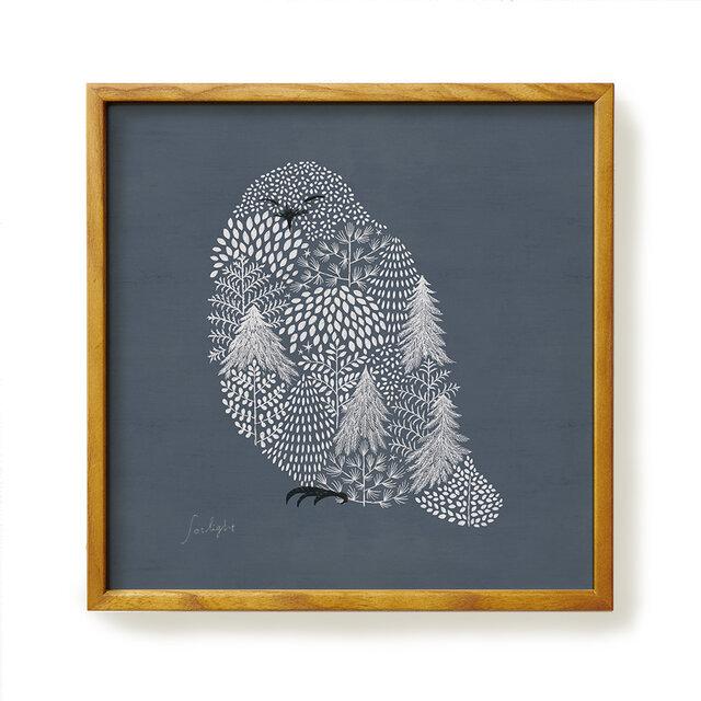 Poster + Frame 30 / Fluffy Snow owlの画像1枚目