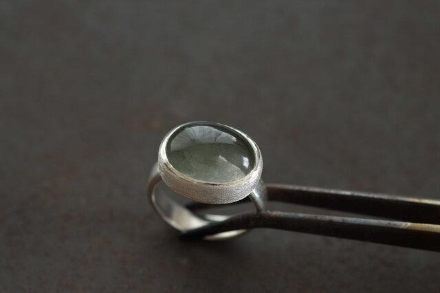 緑の針水晶 リングの画像1枚目