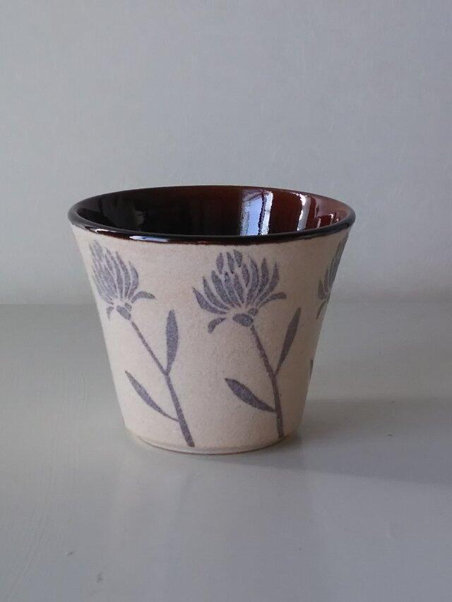 陶小町series/フリーカップ(野花A)~秋冬限定の画像1枚目