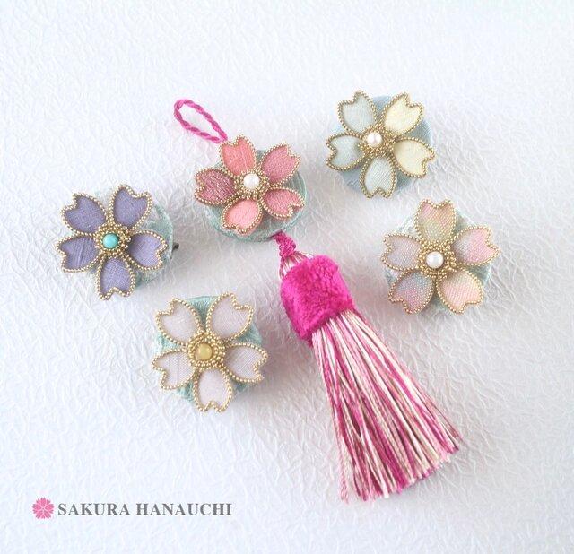 桜のタッセルストラップ の画像1枚目