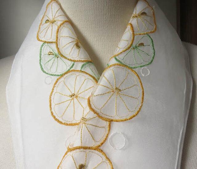 半衿・レモンとライム・オーガンジーの画像1枚目