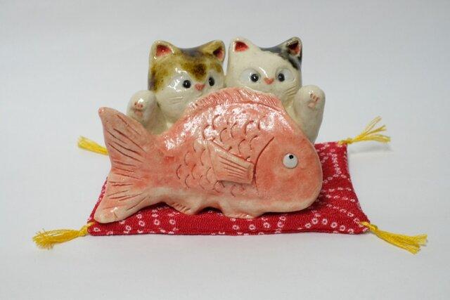 ペア猫招き猫の画像1枚目