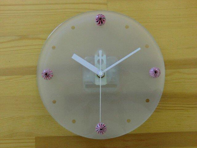 とんぼ玉時計「しましまにしまっしま」の画像1枚目