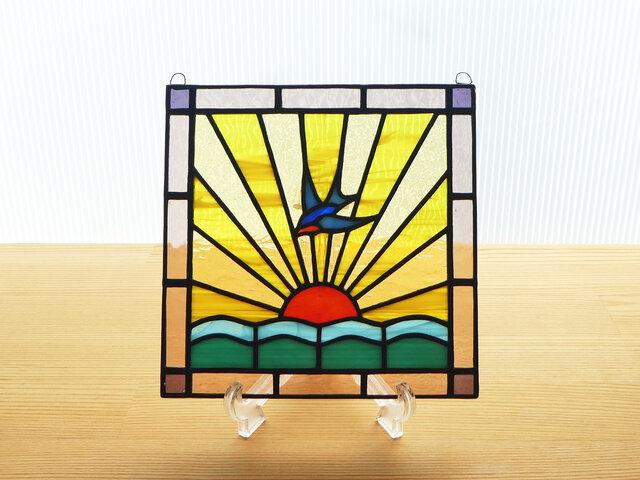 ステンドグラス ミニパネル 日の出ii 15cmの画像1枚目