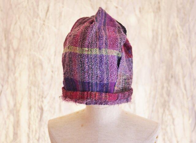 手織り ふにふに帽子 春夏糸の画像1枚目