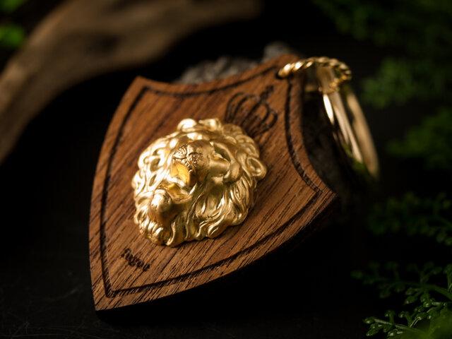 【ライオンのバッグチャーム/キーアクセサリー】チークの画像1枚目