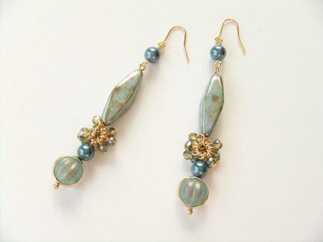 金具変更OK Pierces or Earrings チェコガラス(P0852)の画像1枚目
