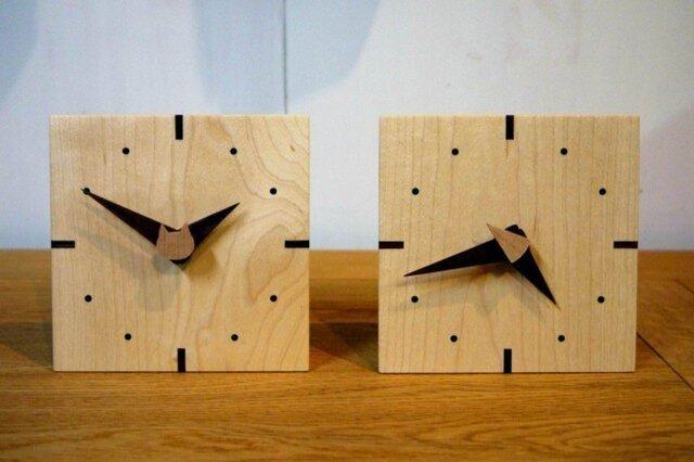 メープルの小さな時計の画像1枚目