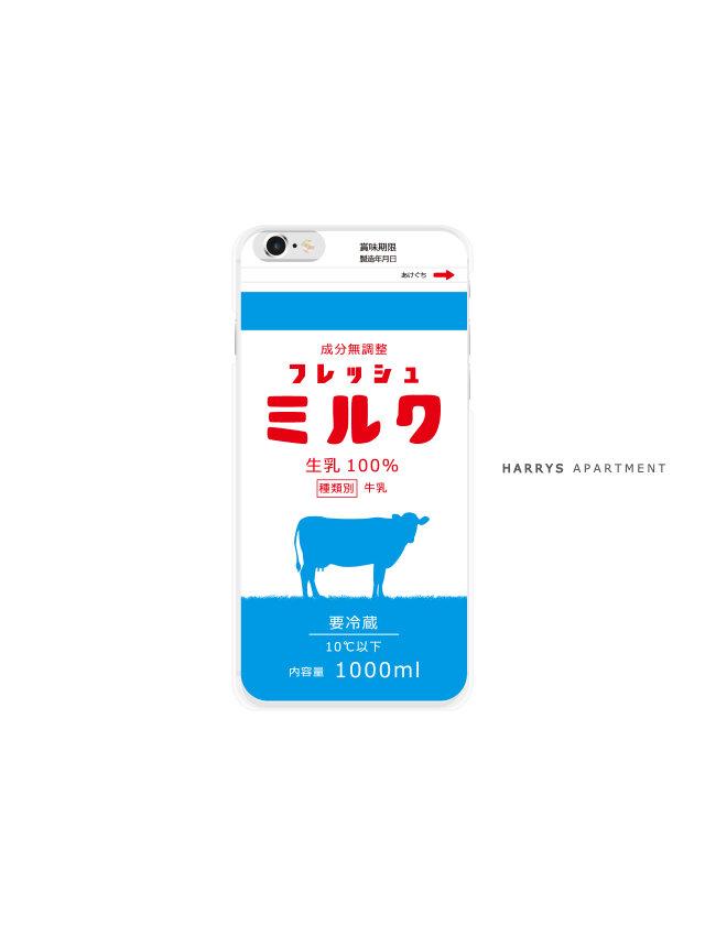 iphone7 ケース フレッシュミルク 牛乳 milk スマホケースの画像1枚目