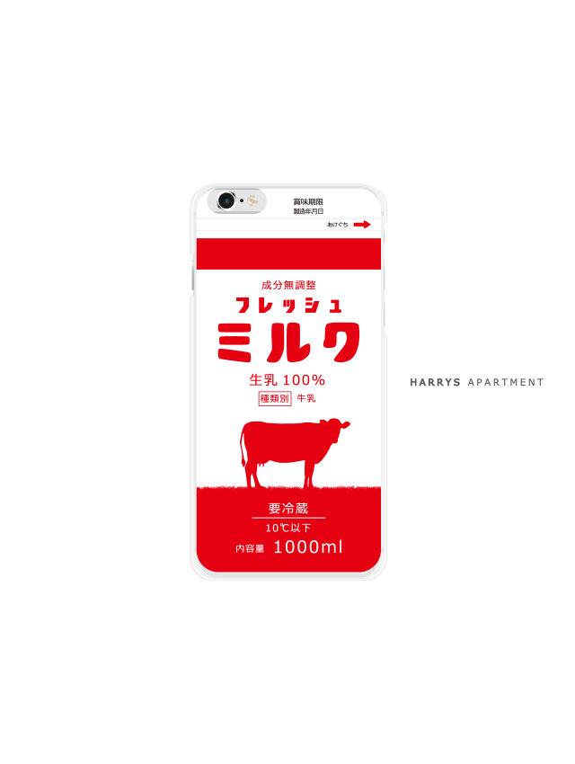 iphone7 ケース フレッシュミルク レッド 赤い牛乳 milk スマホケースの画像1枚目