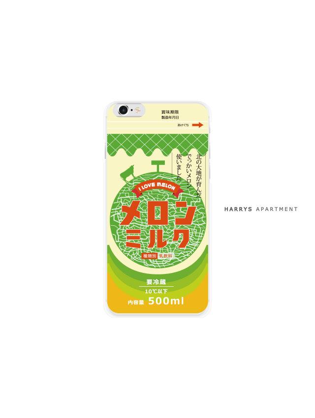 iphone7 ケース メロン ミルク 牛乳 スマホケースの画像1枚目