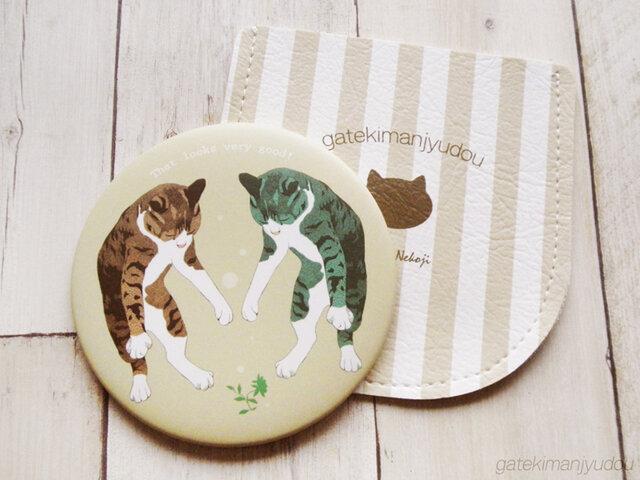 猫柄ポケットミラー(ケース付き)の画像1枚目