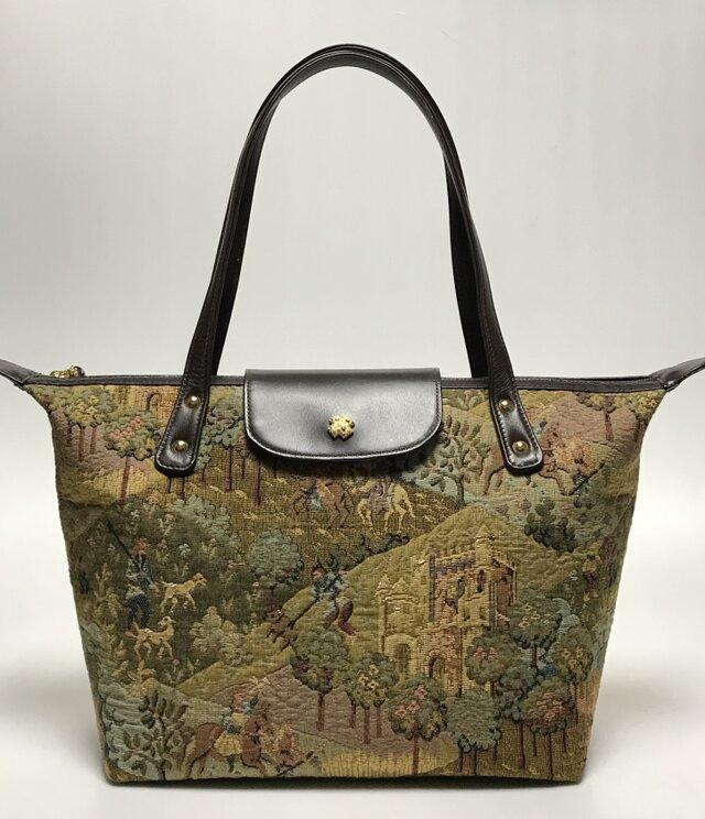 ベルギー製ゴブラン織りタウンバッグの画像1枚目