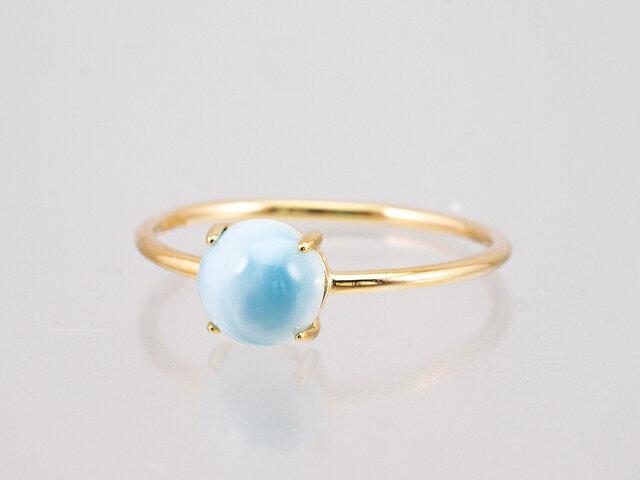 K10 Milky Aquamarine Oval Ringの画像1枚目