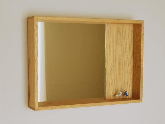 木製 箱鏡 栗材3の画像1枚目