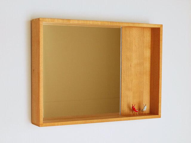 木製 箱鏡 桜材6の画像1枚目