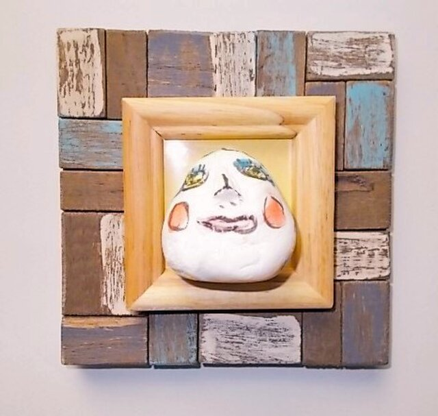壁飾り 額絵 オブジェ 顔 アクトレスの画像1枚目