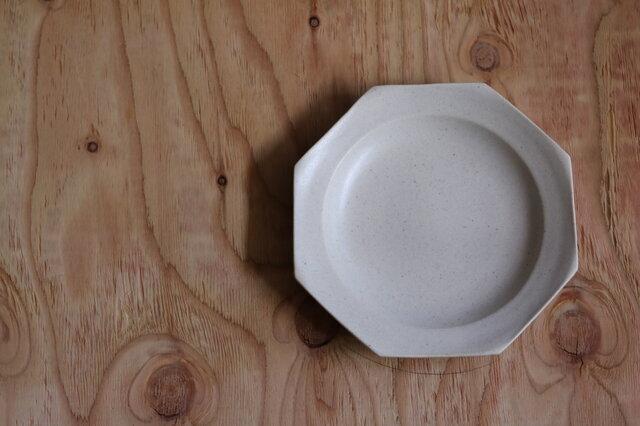 八角大皿 白の画像1枚目