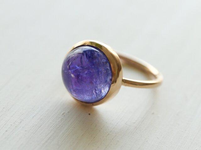 K10 青紫のwinter flower タンザナイト ringの画像1枚目