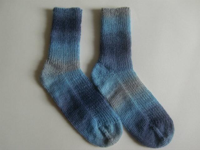 手編み靴下【Woolly Hugs イヤーソックス 06】の画像1枚目