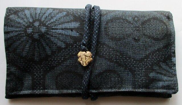 送料無料 大島紬で作った和風財布・ポーチ 4108の画像1枚目