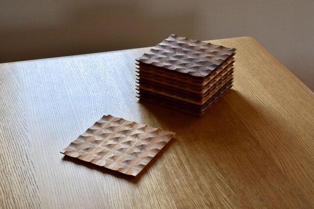 廃材木を使ったトースト皿 (オニグルミ) の画像1枚目