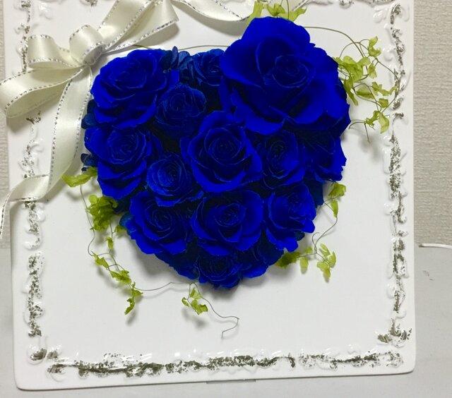 プリザーブドフラワー 幸せの12(ダース)Roseを貴方へ ハートの盾 (現品)の画像1枚目