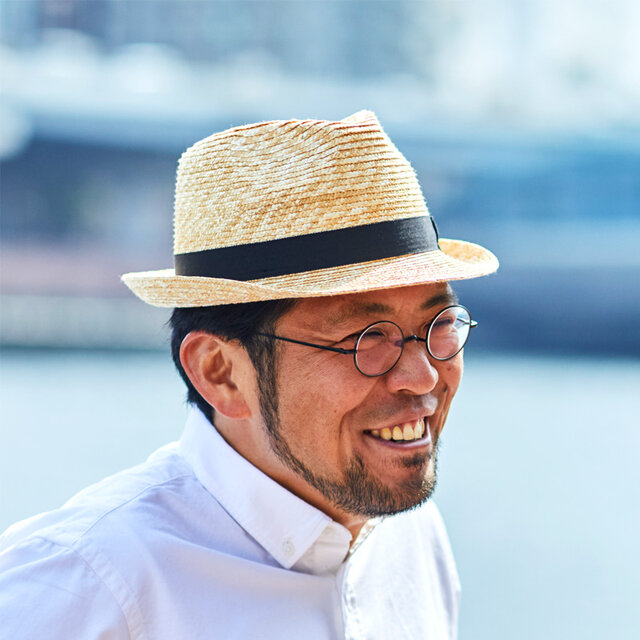 アラン 中折れ 麦わら帽子 ストローハット 麦わら 帽子 ナチュラル 57.5cm [UK-H014-NA-M]の画像1枚目