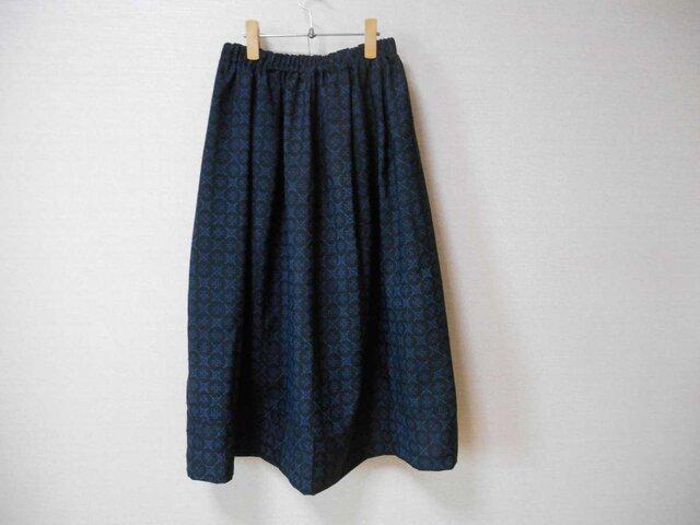 再販★紬のリメイクスカート★裏地付の画像1枚目