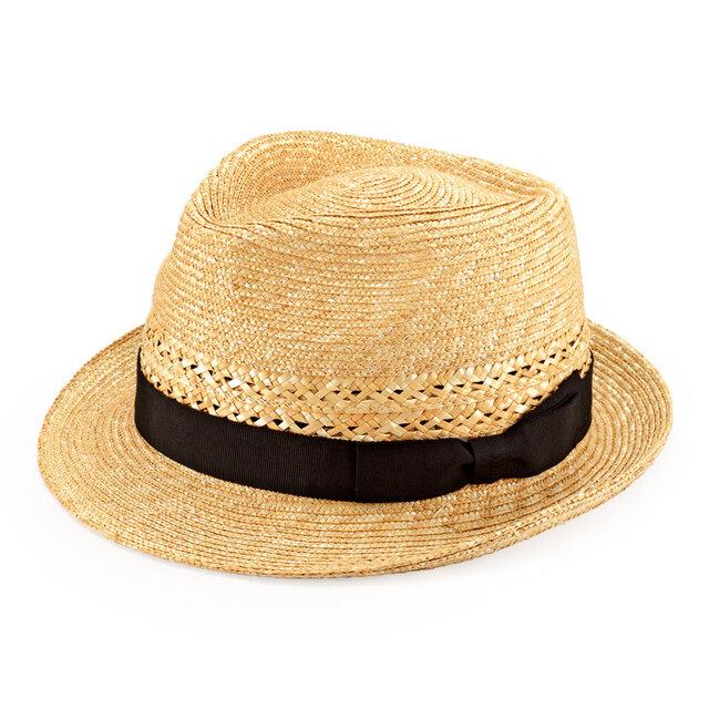 Timèo ティメオ 細麦つば広中折れ帽子 57.5cm [UK-H073-NA]の画像1枚目