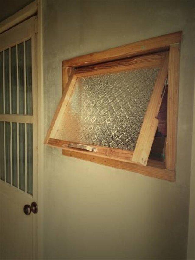 サイズオーダー可能 OWW-FREE 数量限定 突き出し窓 ホイトコ付き 滑り出し窓 冊子 海外型板ガラス付き 改装新築の画像1枚目