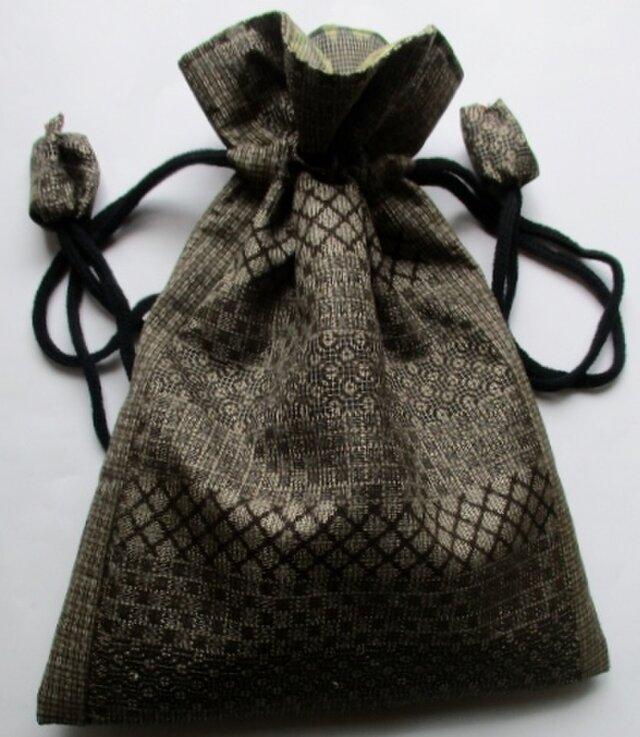送料無料 大島紬で作った巾着袋 4116の画像1枚目