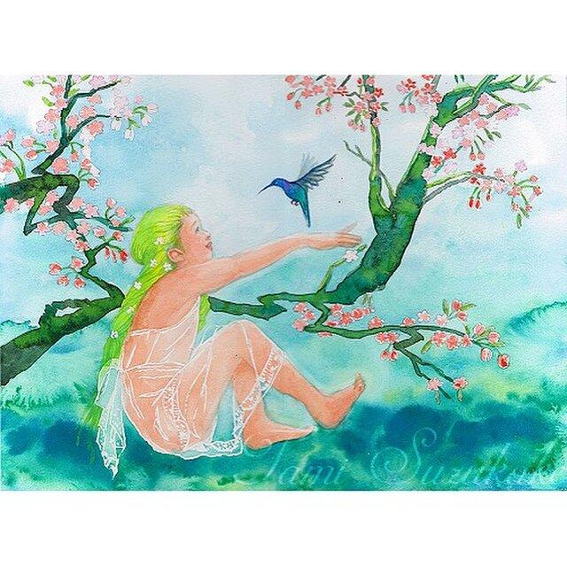 水彩(原画)「春の宴」の画像1枚目