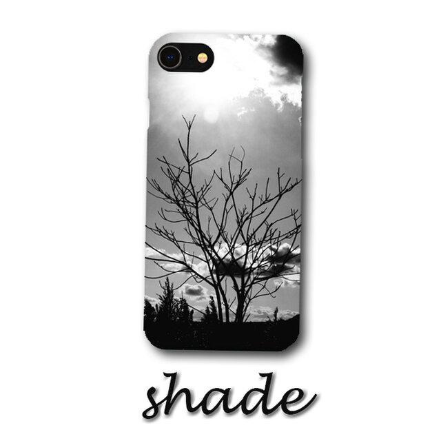 shade【Android 背面スマホケース】*送料無料*おしゃれ/人気/Android/アンドロイド/大人/木/白黒の画像1枚目
