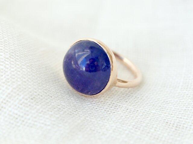 K10[青紫のflower タンザナイト] ringの画像1枚目
