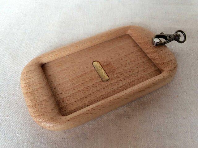 【受注制作】木製パスケース(ヨーロピアンビーチ)の画像1枚目