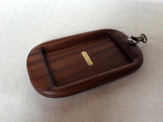 【受注制作】木製パスケース(ウォルナット)の画像1枚目