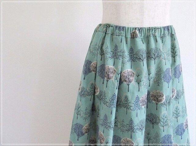 forest* 森の木々のギャザースカートの画像1枚目