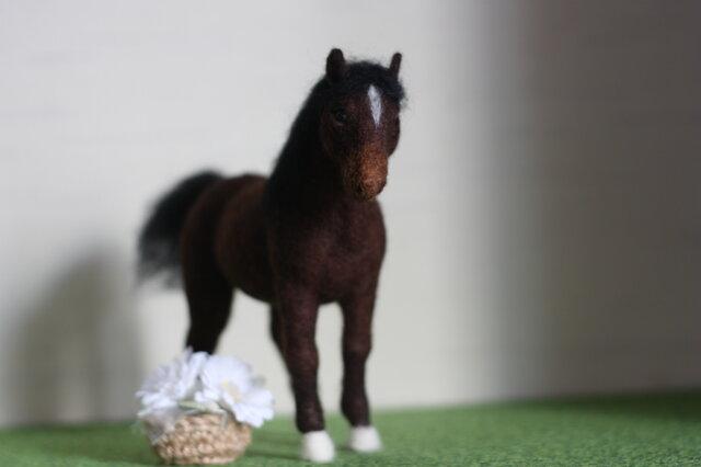 お馬さん。。。羊毛フェルトの画像1枚目