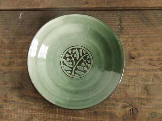 ナナカマドの小皿(緑)/オーダーメイド受付可の画像1枚目