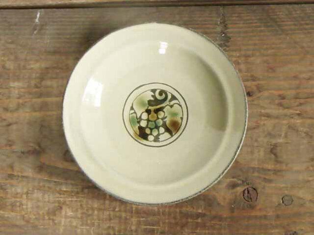 葡萄の小皿(三彩)/オーダーメイド受付可の画像1枚目