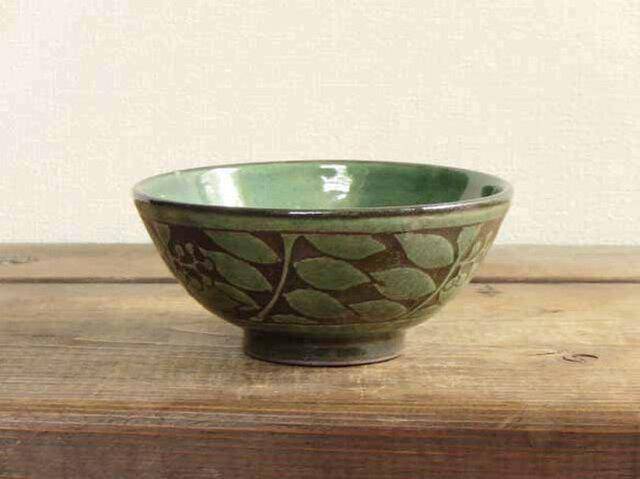 ナナカマドの飯碗(緑)/オーダーメイド受付可の画像1枚目