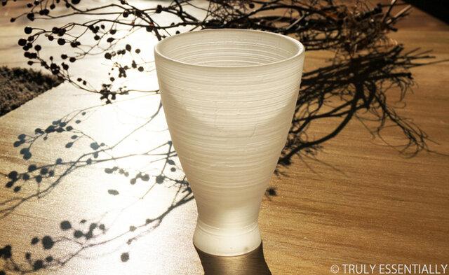 無色透明グラス -「 The Vessel of Light - 月明かりの器 」● 高さ14cmの画像1枚目