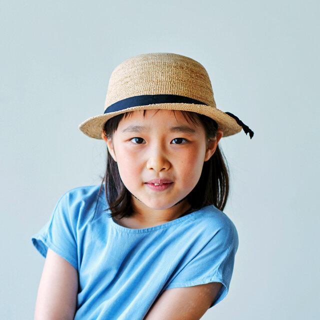 Sunny サニー ラフィア 子供用帽子 50cm [UK-H011-SU-50]の画像1枚目